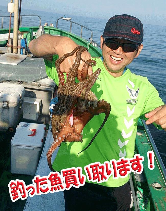 釣った魚買い取ります