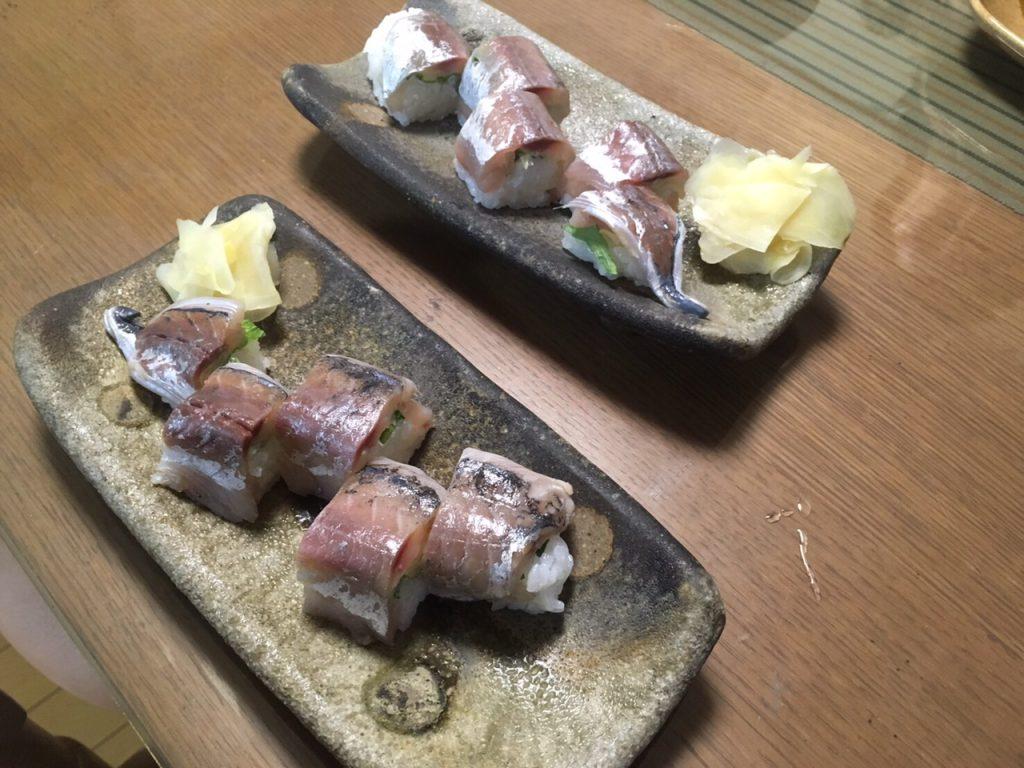 アジ巻き押し寿司