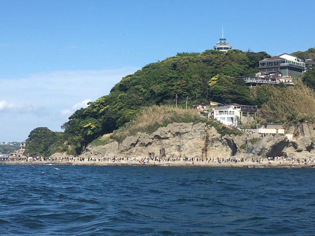 江の島お客さん