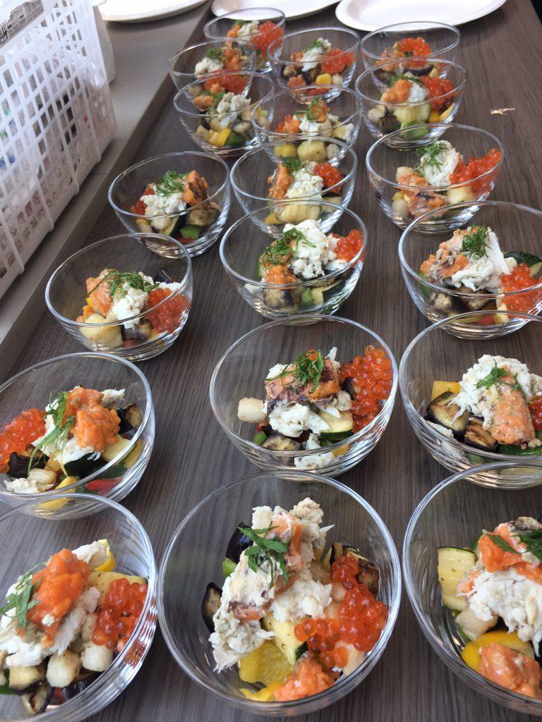 ワタリガニと夏野菜