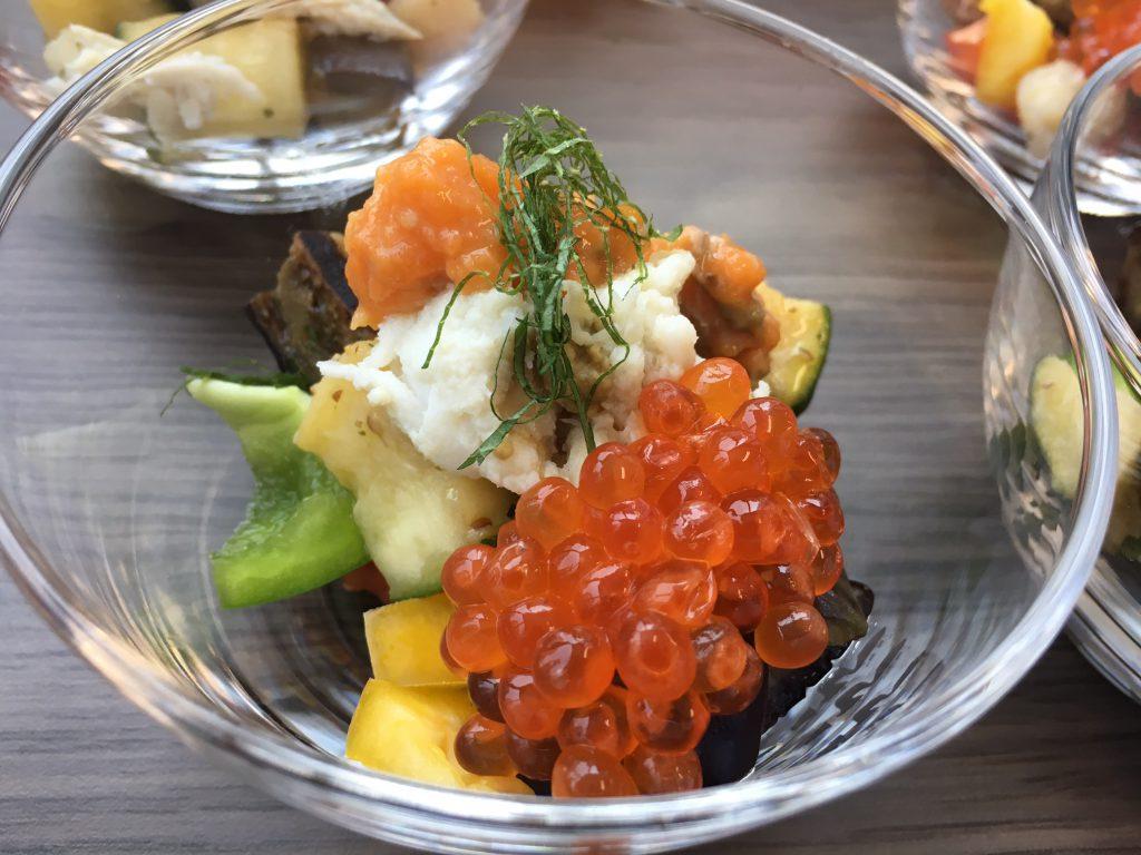 ワタリガニ夏野菜